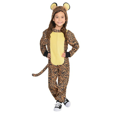 Child Leopard Jumper Costume](Kids Snow Leopard Costume)