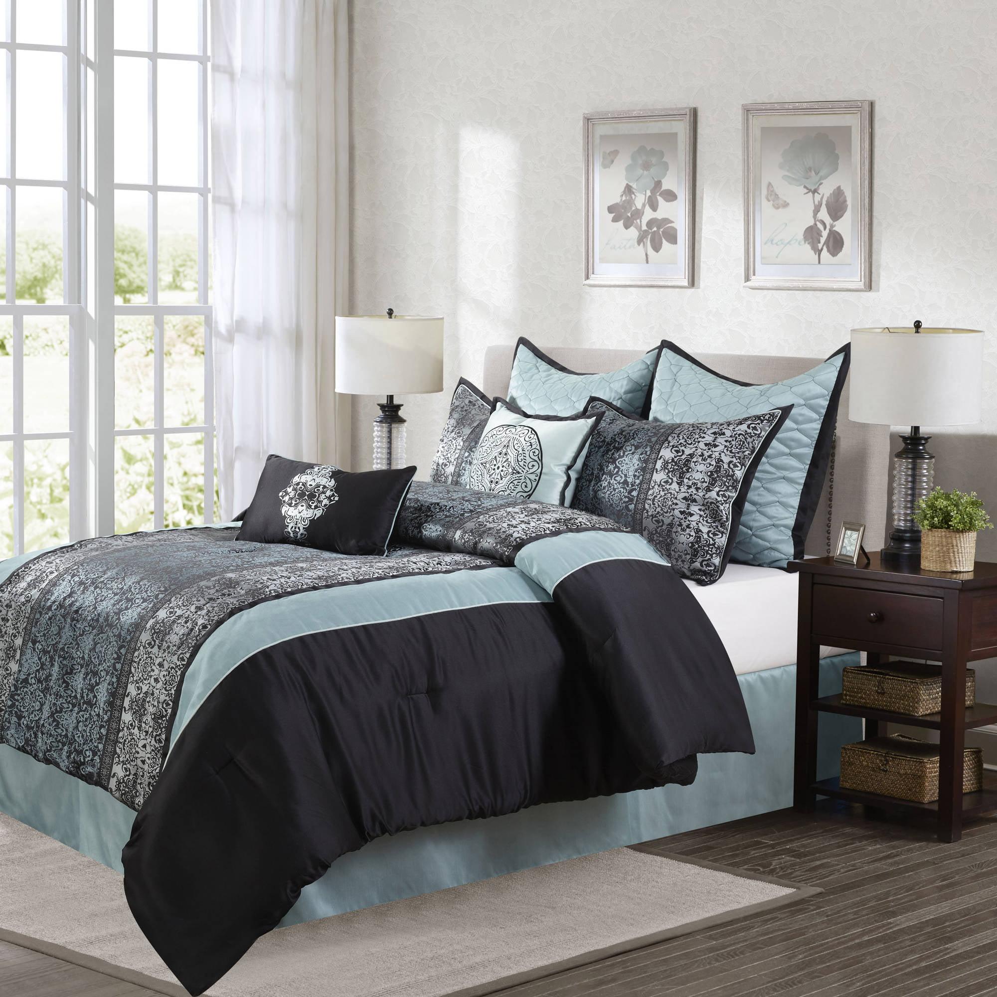 Wayfair basics wayfair basics 7 piece comforter set amp reviews - Stratford Park By Nanshing Arabesque 8 Piece Bedding Comforter Set