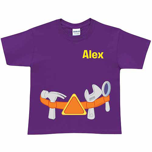 Personalized Super Why! Alpha Tool Belt Toddler T-Shirt, Purple