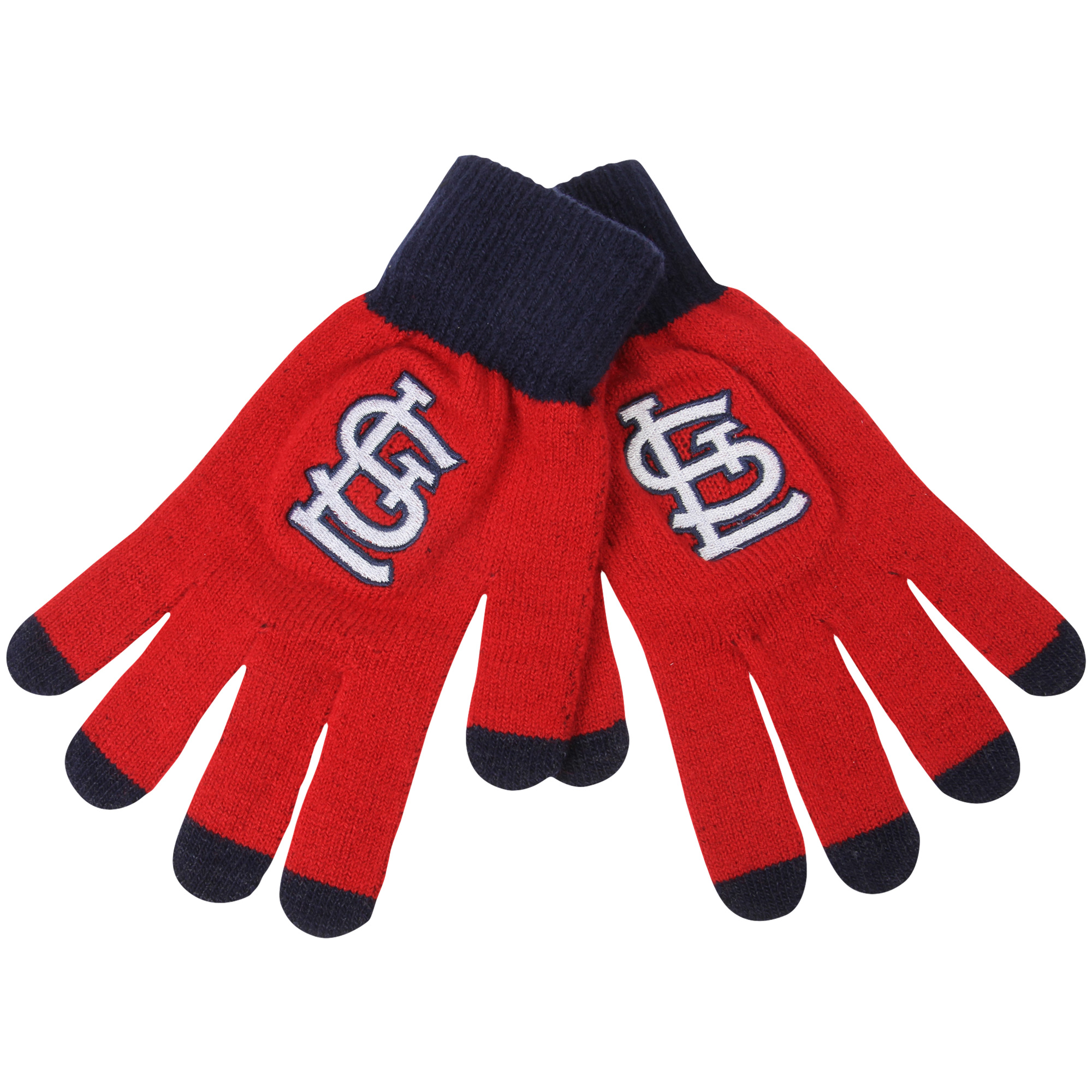 St. Louis Cardinals Official MLB Glove Solid Outdoor Winter Stretch Knit by Forever Collectibles 262183 by TEAM BEANS INC/FOREVER COLLECTIBLES