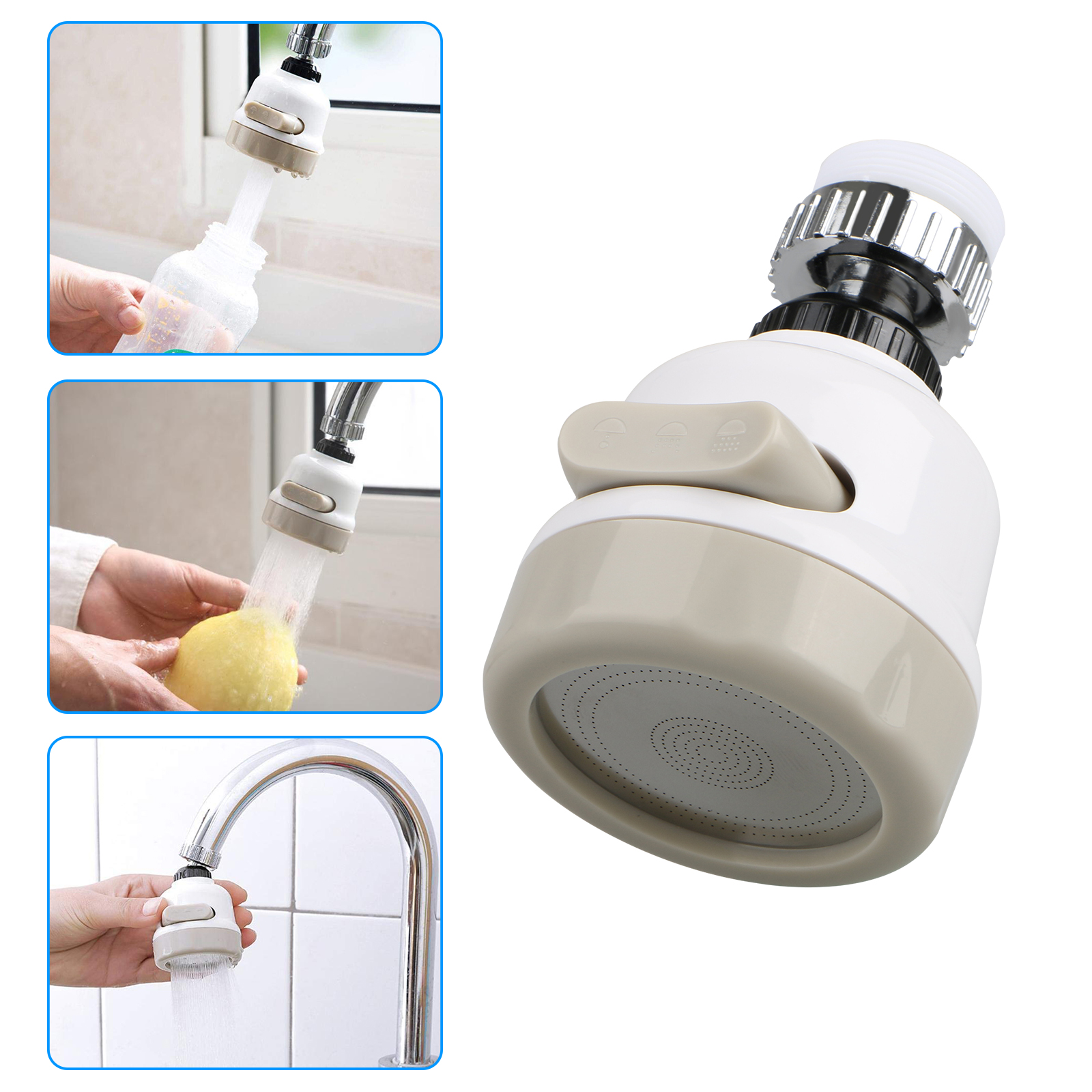 Moveable Kitchen Tap Head 360° Rotatable Faucet Water Saving Filter Sprayer UK~