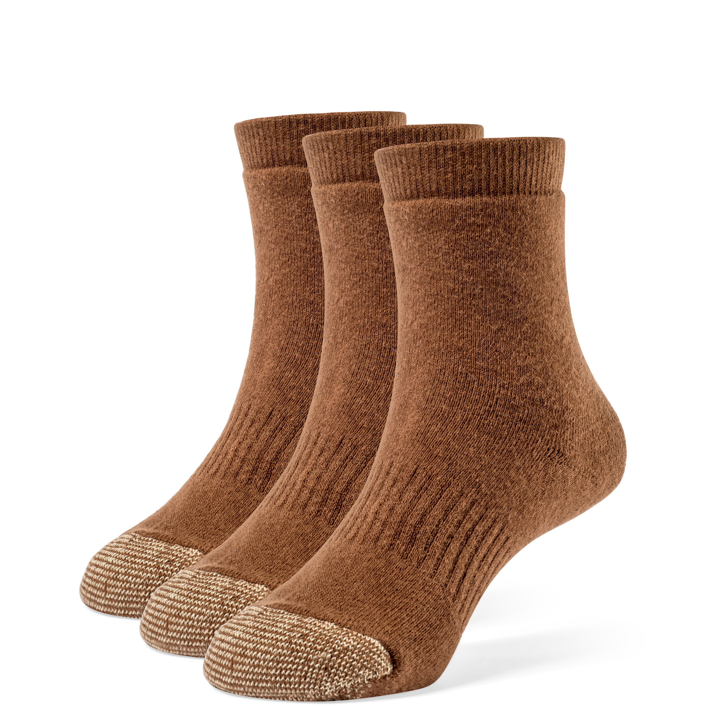 Galiva Boys' Cotton Extra Soft Quarter Cushion Socks - 3 Pairs