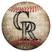 Colorado Rockies 12'' x 12'' Baseball Sign