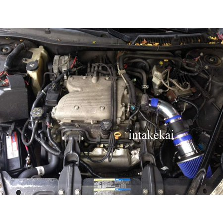 - 2006 2007 2008 CHEVROLET IMPALA MONTE CARLO 3.5 3.5L 3.9 3.9L V6 ENGINE AIR INTAKE KIT SYSTEMS BLUE)