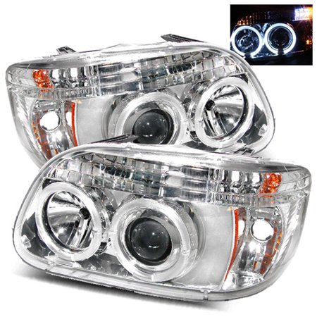 For 95 01 Ford Explorer 97 Mercury Mountaineer Halo Projector Headlights Chrome