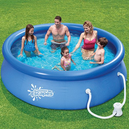 Summer escapes 10 39 x 30 quick set swimming pool for Swimming pools obi