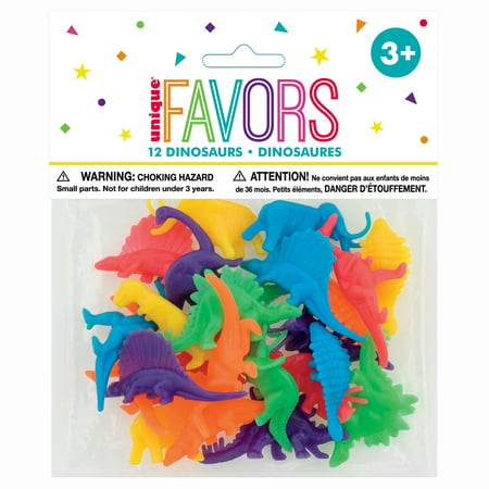 Plastic Dinosaur Party Favors, Assorted, 12ct
