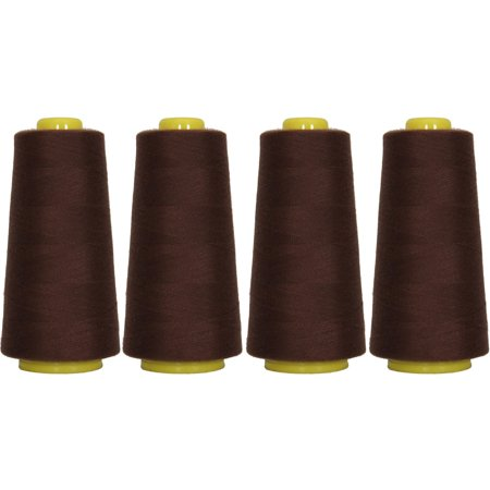 4 Cones Chocolate Color Serger Sewing Thread 2750 Yd Cones TEX 27 40S/2,