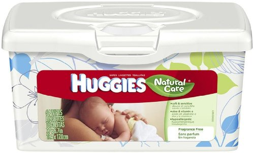Huggies Natural Care Unscented Baby Wipes Tub 64ct (Pack of 12) by 1