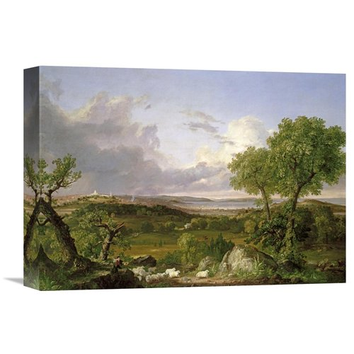 Global Gallery 'View of Boston' by Thomas Cole Painting Print on Wrapped Canvas