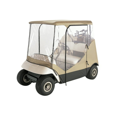 Classic Accessories Fairway 2-Person Travel 4-Sided Golf Cart Cover and Enclosure, Tan - Golf Cart Ideas