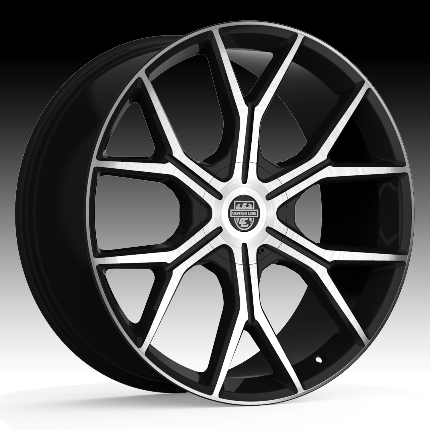 Centerline 840MB Slingshot Machined Black 24x10 6x135 / 6x5.5 30mm (840MB-2416830)