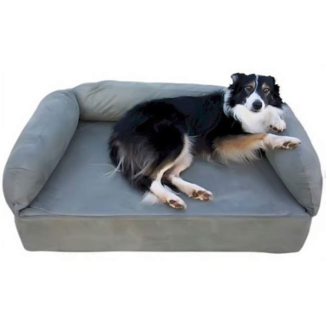 Snoozer Pet Dog Cat Puppy Indoor Comfortable Soft Quilted Luxury Memory Foam Sofa Sleeping Bed Large Anthracite