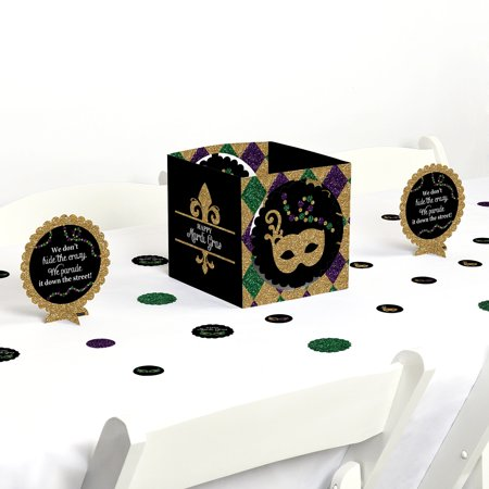 Mardi Gras - Masquerade Party Centerpiece & Table Decoration Kit - Mardi Gras Decorations Clearance