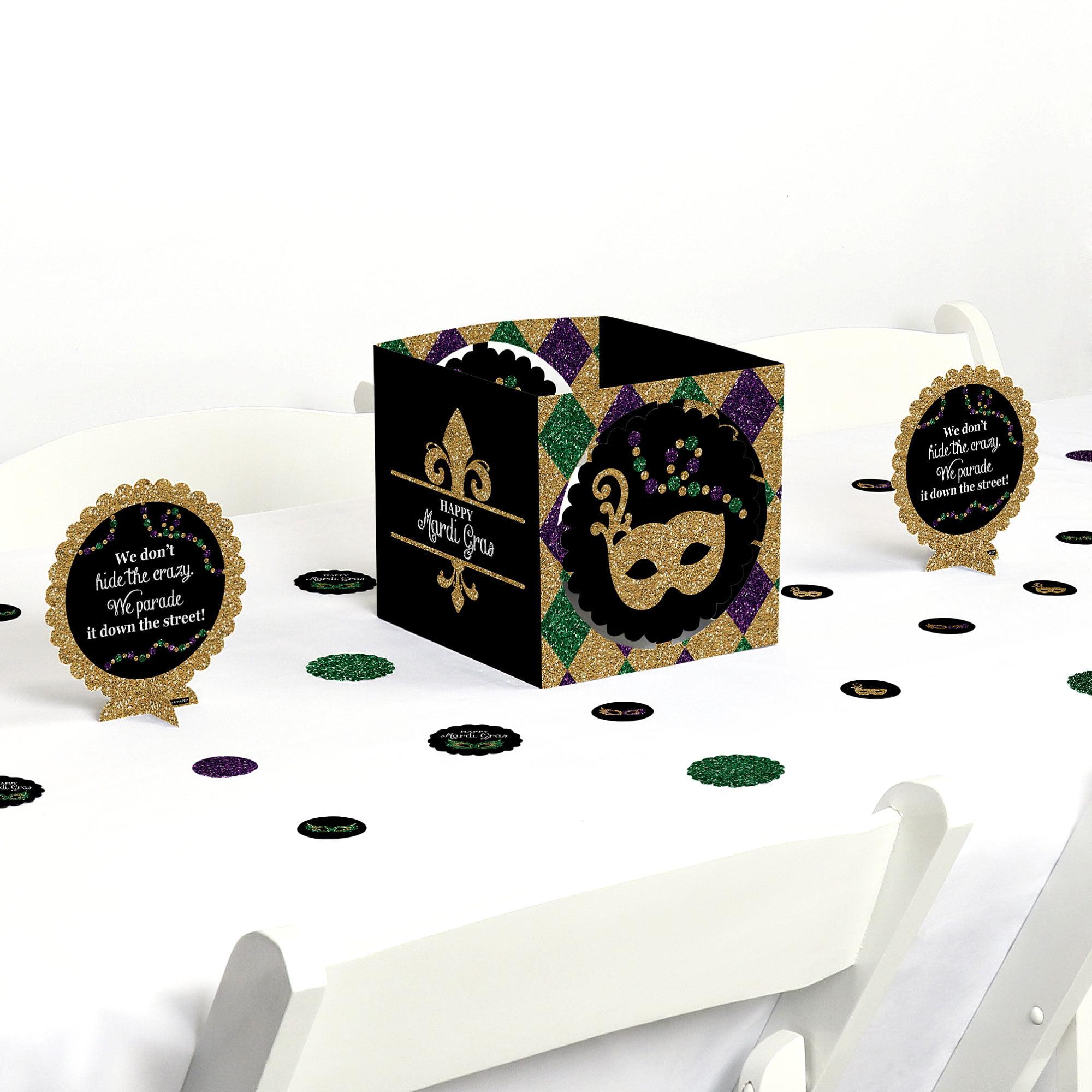 Mardi Gras - Masquerade Party Centerpiece & Table Decoration Kit
