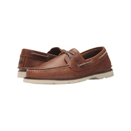 a193238397f Sperry Top-Sider - Sperry Top-Sider Leeward Men s Cross Lace Slip On Tan Boat  Shoes - Walmart.com