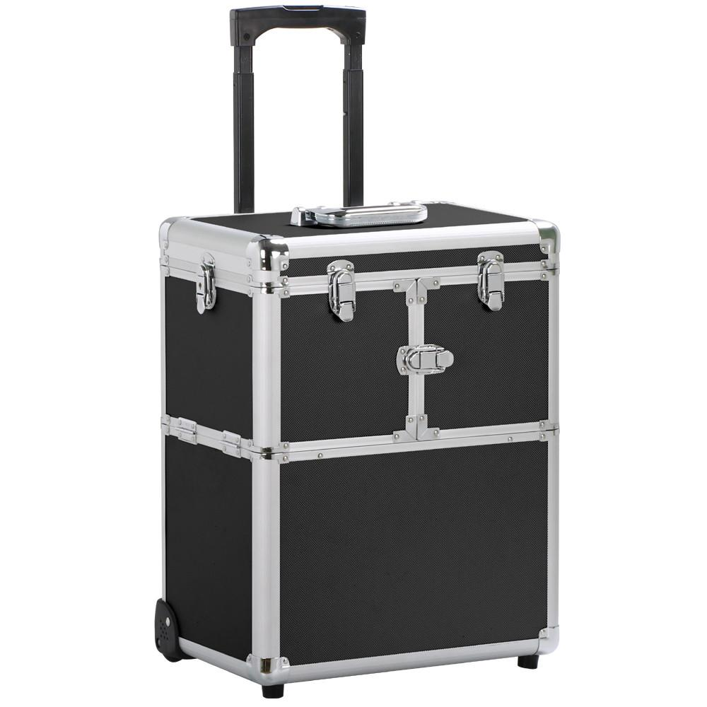 Yaheetech Professional Artist Rolling Makeup Artist Case Makeup Trolley Travel Cosmetic Case Beauty Train Case Cosmetic Organizer
