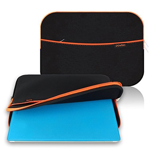 Pawtec Protective Neoprene Sleeve Case for Surface Pro 4 and Surface Pro 3 Tablets - Protective Storage Carrying Case, Extra Storage Pocket for Accessories