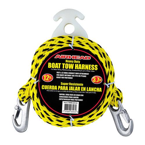 Airhead Heavy-Duty Kwik-Connect Tow Harness, Black/Yellow