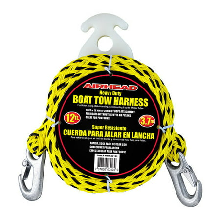 Kwik Tek Airhead Tow Harness (Airhead Heavy-Duty Kwik-Connect Tow Harness, Black/Yellow )