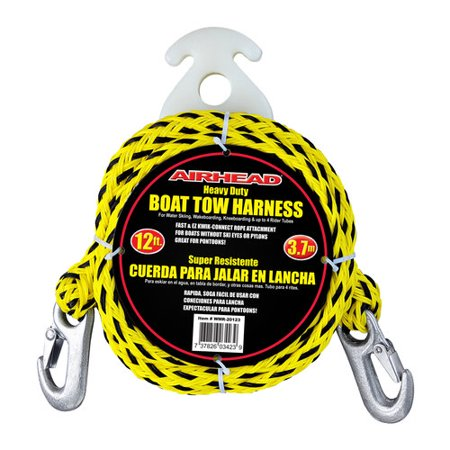 Airhead Heavy-Duty Kwik-Connect Tow Harness, Black/Yellow ()
