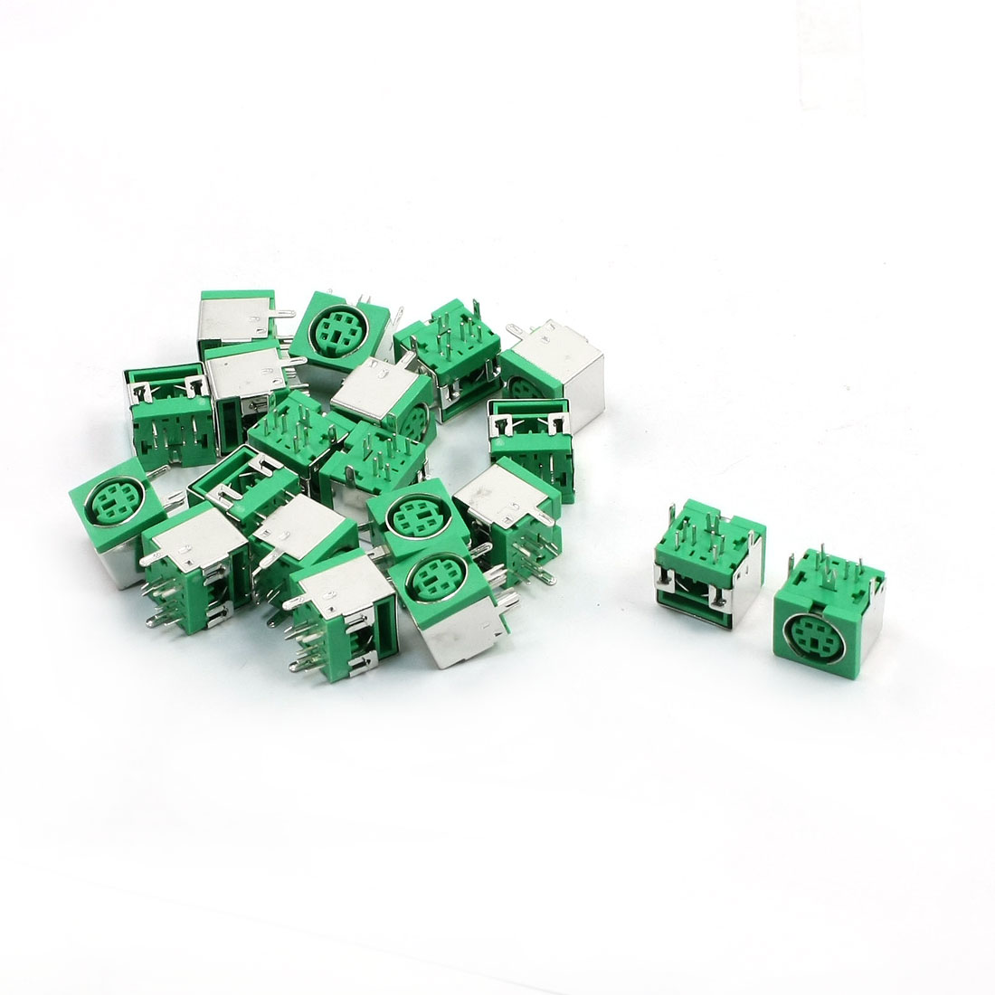 20pcs PS/2 6P Mini DIN Female PCB Mouse Keyboard Connector Green - image 1 de 1