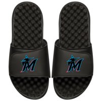 Miami Marlins ISlide Alternate Logo Slide Sandals - Black