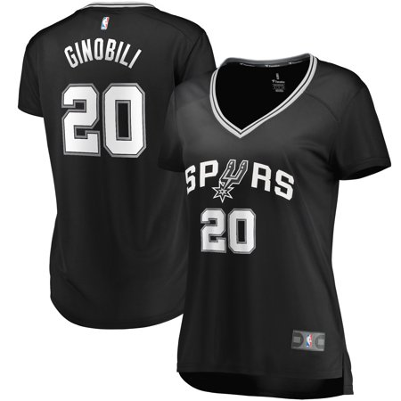Manu Ginobili San Antonio Spurs Fanatics Branded Women's Fast Break Replica Jersey - Icon Edition - (Women Looking For Men In San Antonio)
