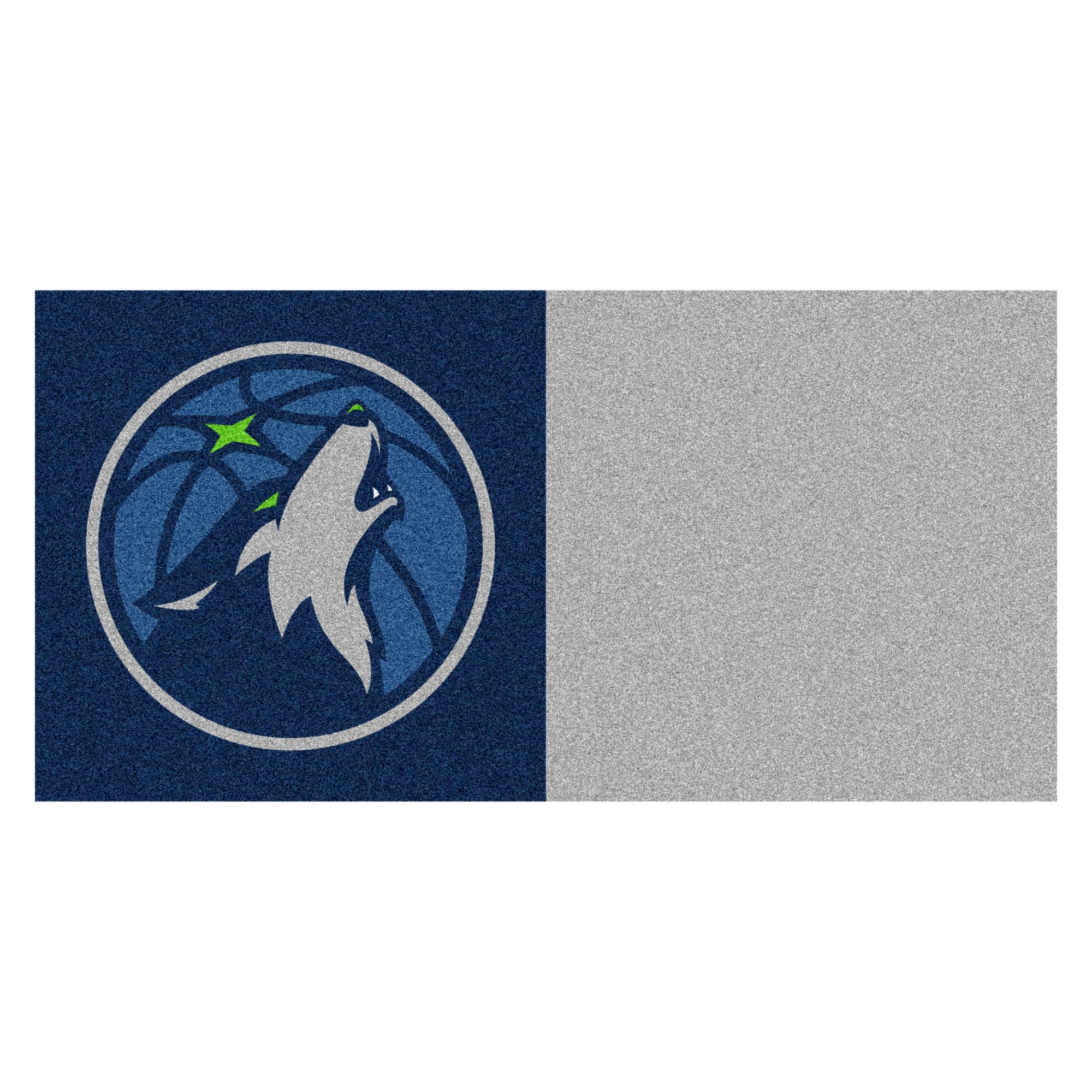 NBA Minnesota Timberwolves Team Carpet Tile Flooring Squares, 20-PC Set