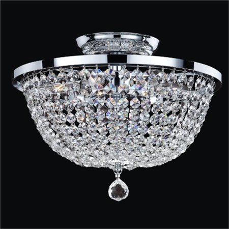Glow Lighting 630AC13SP-7C Synergy 13 in. Traditional Empire Crystal Flush Mount