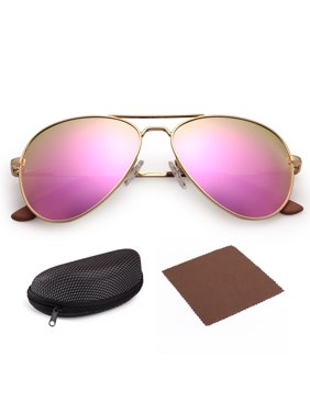 1c011cbc31 Product Image Polarized Aviator Sunglasses for Women with Case
