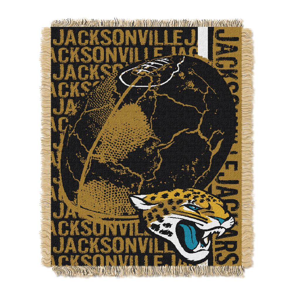 "Jacksonville Jaguars NFL Triple Woven Jacquard Throw (Double Play) (48""x60"")"