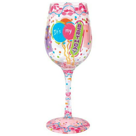 Enesco Wine Glass, It's My Birthday