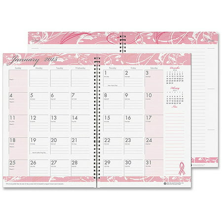 Doolittle Brst Cncr Awrness Monthly Wirebound Planner