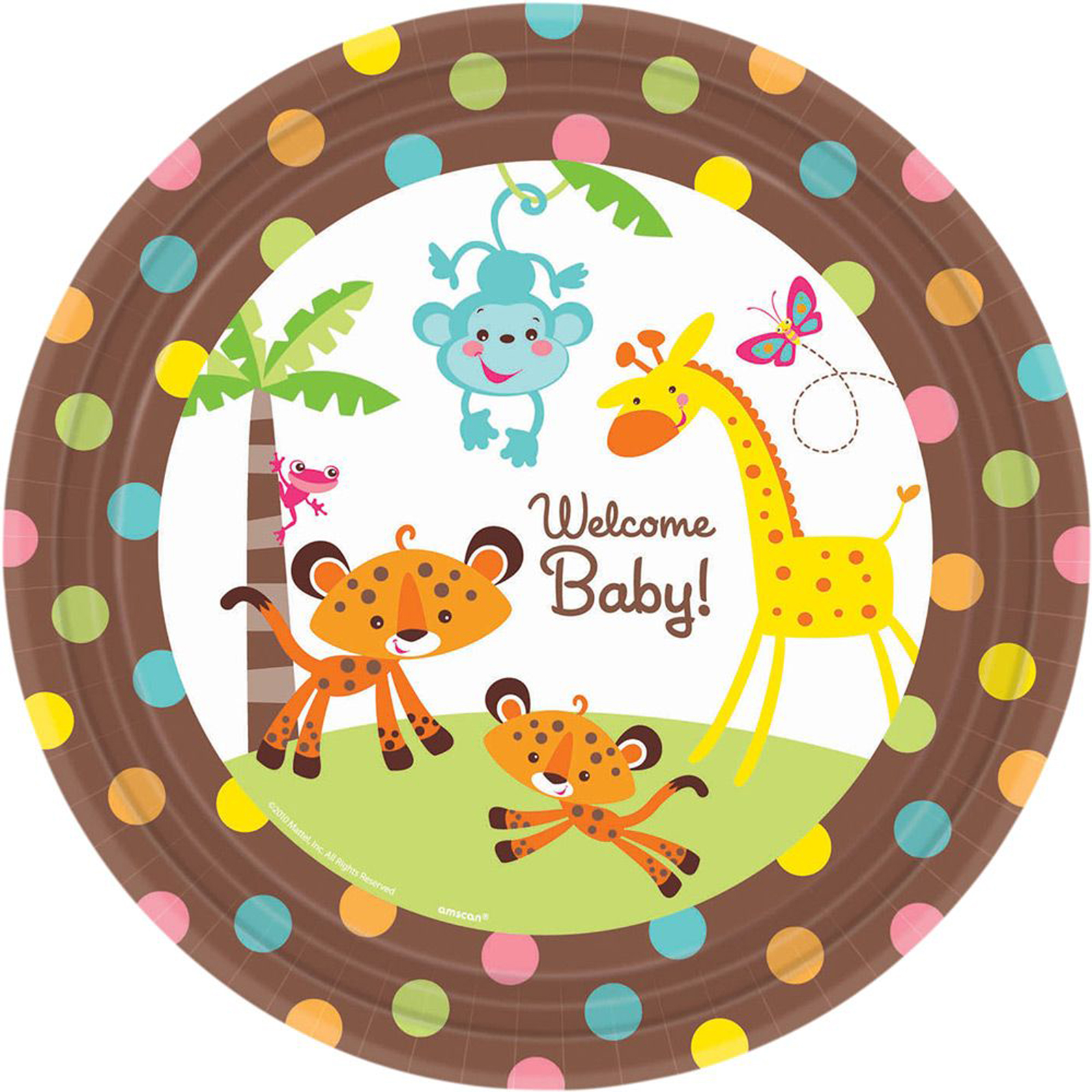 Fisher Price Baby Shower Banquet Dinner Plates (8 Count) by Fisher-Price