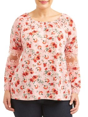 08f5b986461b Product Image Women s Plus Size Printed Bell Sleeve Top