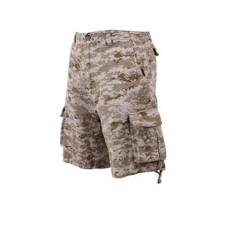 Rothco Vintage Infantry Utility Shorts, Desert Digital Camo