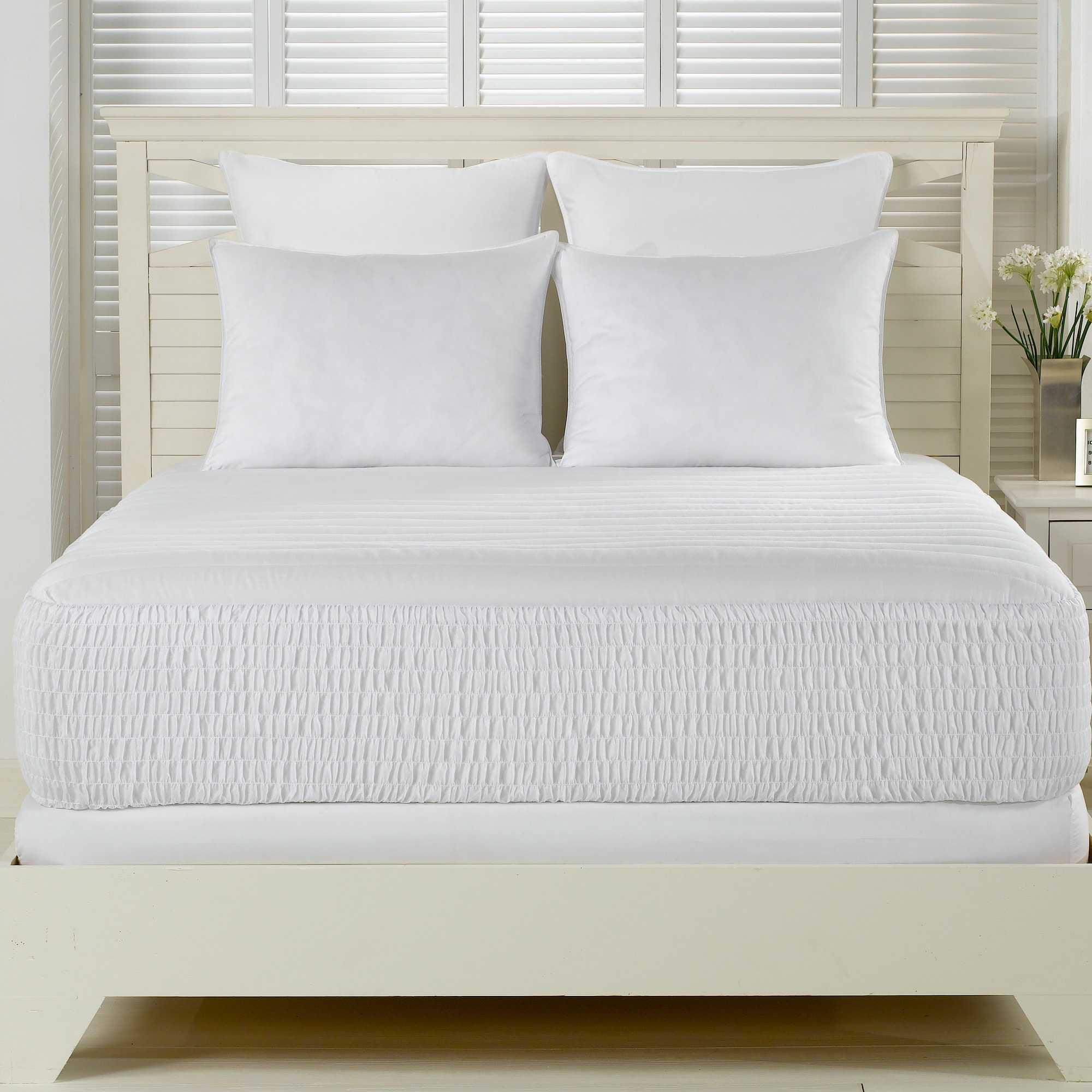 Simmons Beautyrest Beautyrest 300 Thread Count Premium Cotton Mattress Pad by Overstock