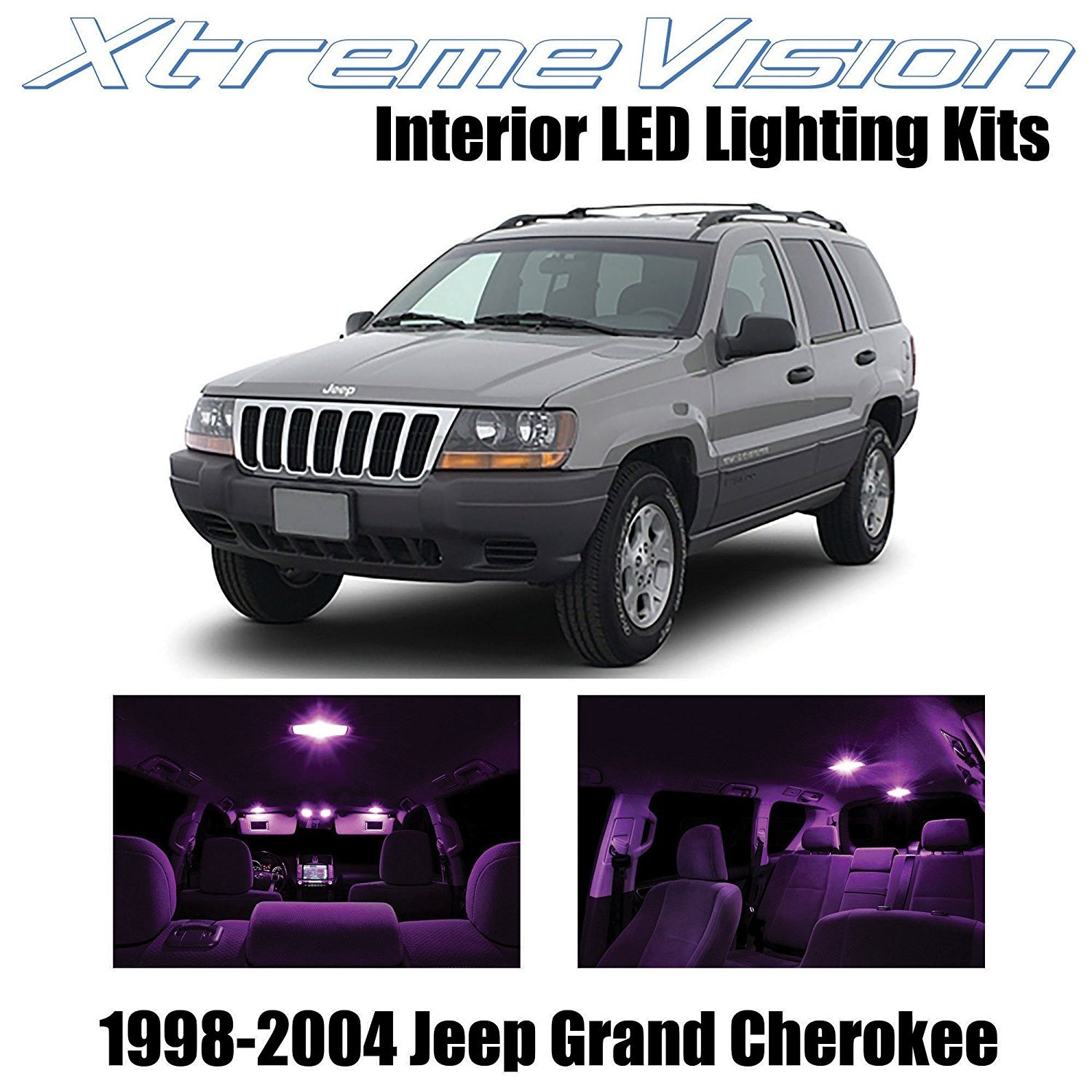 Xtremevision Led For Jeep Grand Cherokee 1998 2004 12 Pieces Pink Premium Interior Led Kit Package Installation Tool Walmart Com Walmart Com