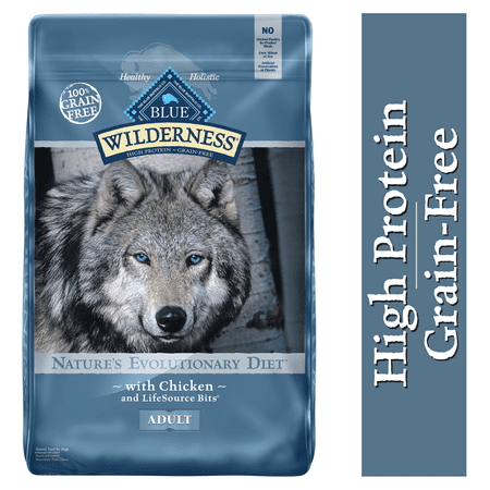 Blue Buffalo Wilderness Chicken High Protein Grain Free Adult Dry Dog Food,