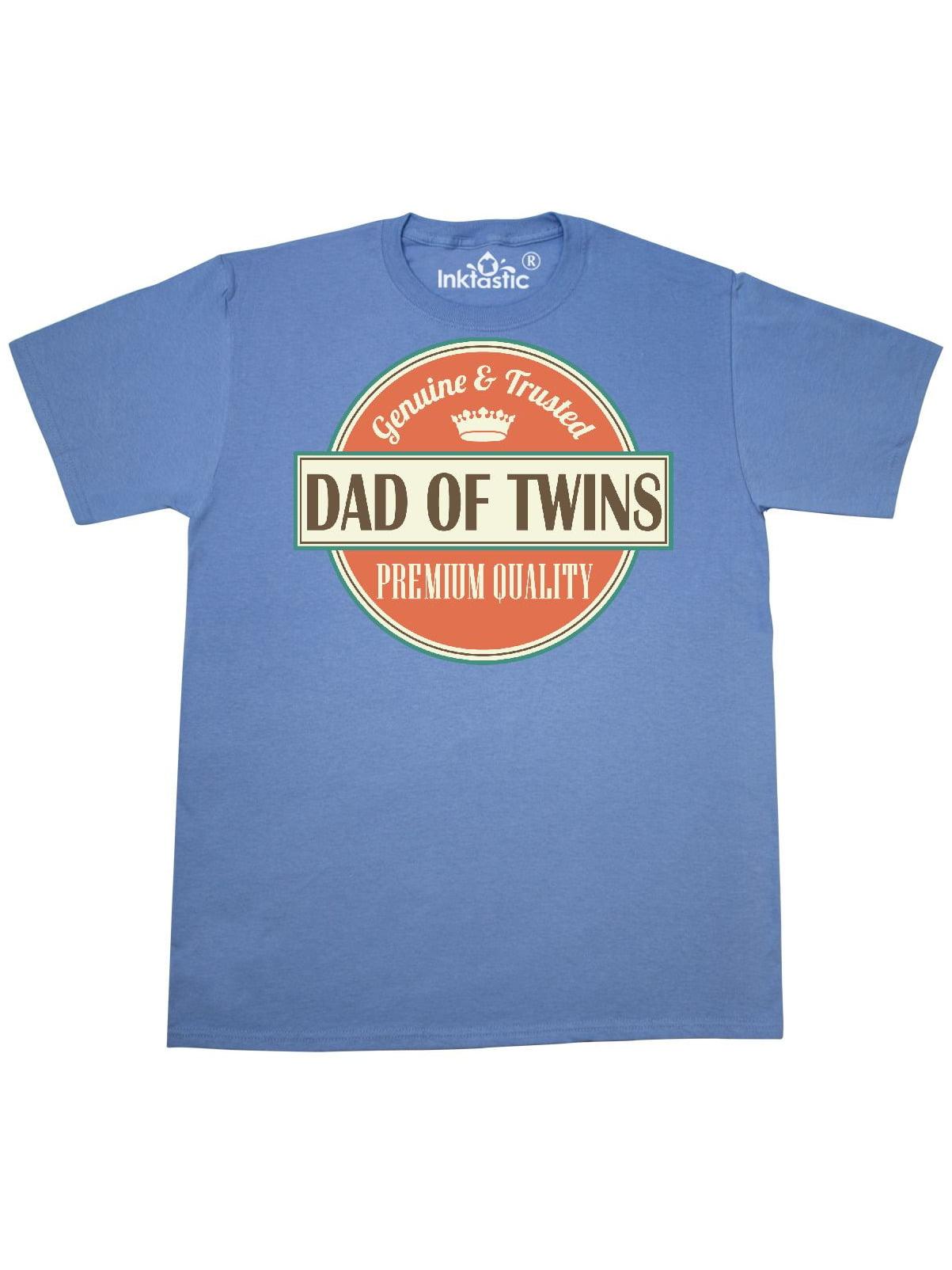 5d784dde Inktastic - Dad Of Twins vintage T-Shirt - Walmart.com