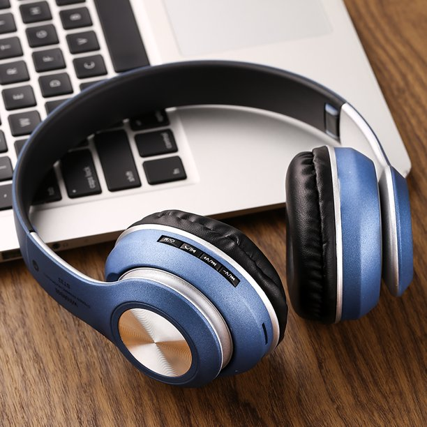 Bluetooth Headphones Over Ear Hi Fi Stereo Wireless Headset Foldable Soft Memory Protein Earmuffs W Built In Mic And Wired Mode For Pc Cell Phones Tv Walmart Com Walmart Com