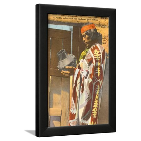San Ildefonso Pueblo Potter, New Mexico Framed Print Wall Art