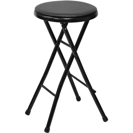 Mainstays 29 Quot Cushioned Folding Stool Black Finish