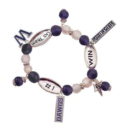 - Washington University Huskies #1 Win Sport Wishing Charm Bracelet