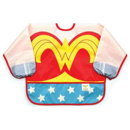 Halloween Costumes For Girls Age 11-12 (Bumkins Wonder Woman Sleeved Bib, Waterproof, Art, Crafts, Play, Washable, Stain and Odor Resistant, for ages 6-24)