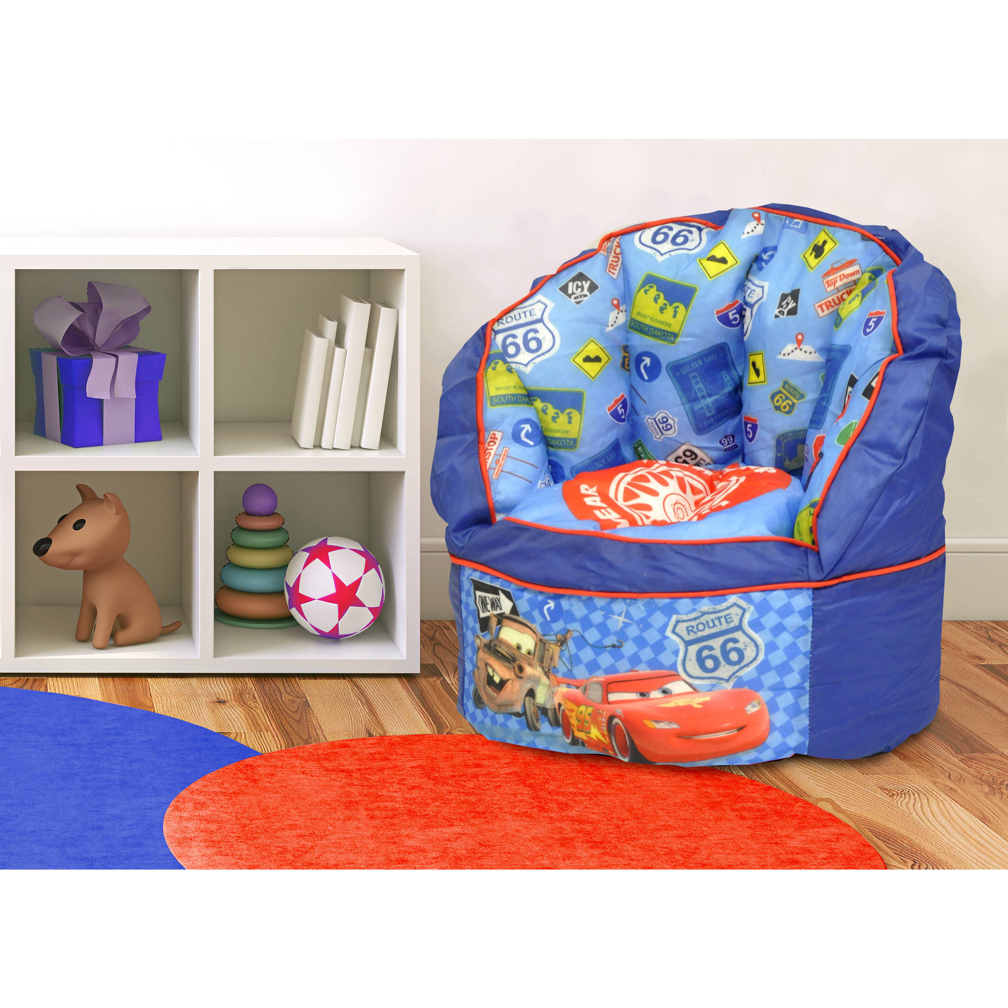 Disney Cars Mini Toddler Sofa Chair with Piping