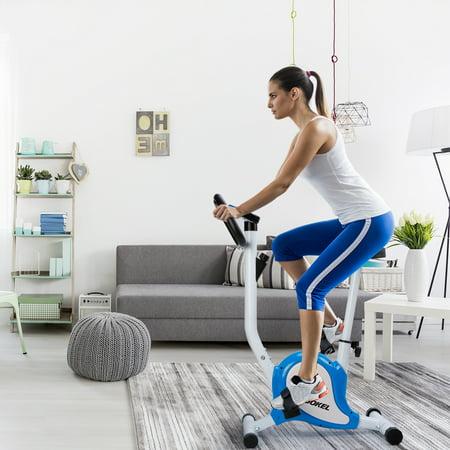 KUOKEL Exercise Bike,Stable Upright Bike Durable Exercise Bicycle Trainer Bike Cardio Aerobic Equipment For Indoor & Outdoor Adjustable Seat & resistance