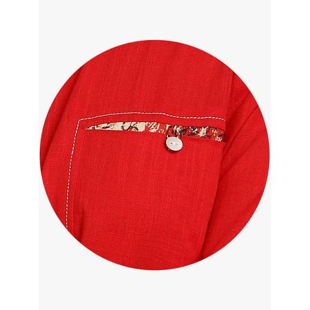 Sangria Women Red Solid Straight Kurta - image 4 de 6