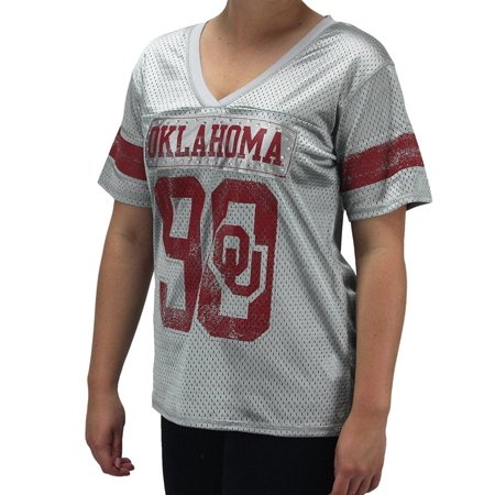 4th and 1 Women s Oklahoma Sooners Jersey V - Neck Bling Shirt ... f23a074b3